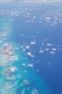 Islands over the Caribbean