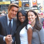 GMA Anchor David Muir, me, and Kerri